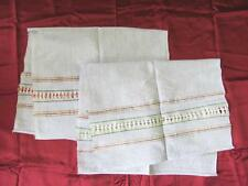 19C. Antique Folk Art Set Of Two Hand Woven Embroidered Bread Cover Clothes