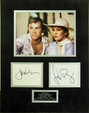 THE CHAMP JON VOIGHT FAYE DUNAWAY GENUINE AUTHENTIC SIGNED MOUNTED AFTAL & UACC