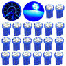 20X Blue T10 W5W 192 194 158 8-SMD LED Instrument Cluster Interior Light Bulbs