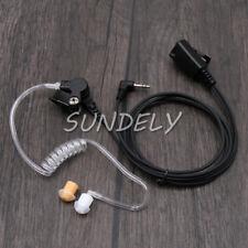 Covert ear piece headset mic 2 way radio single pin motorola talkabout EM1020R