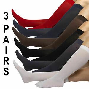 ( PACK-3 )NU&NU Legwear Trouser Socks Comfort Band Size 9-11  ( 12 COLORS)