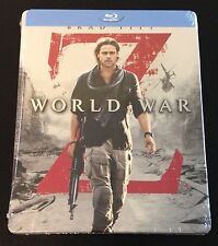 WORLD WAR Z Blu-Ray SteelBook Best Buy Exclusive Ltd Ed. Brad Pitt OOP New Rare!