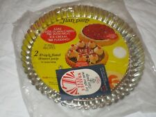 "Betty Best Set of 2 10"" Vintage Flan Tart Pans New"