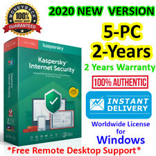 Kaspersky Internet Security 2020 NEW - 5 PC 2 YEAR GLOBAL LICENSE for Windows