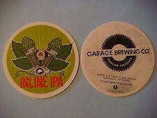 Beer Coaster ~^^~ GARAGE Brewing Inline IPA ~ Temecula, CALIFORNIA ~ Opened 2013