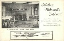 Randolph MA Mother Hubbard's Cupboard w/ Map Postcard