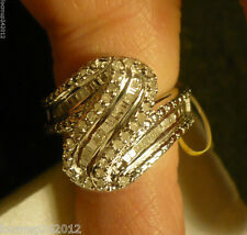 Diamond Cocktail Ring Size 6  69 diamonds .60tcw  MSRP$1019