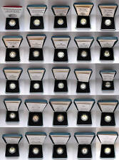 More details for 1983 to 2017 silver proof £1 one pound royal mint; choose your date cased + coa