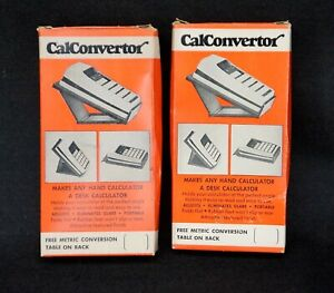 2 Vintage 1960's/70's CALCONVERTER Handheld Calculator Stands - HP & More IN BOX