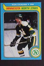 RON ZANUSSI Minnesota North Stars Autographed 1979 Topps #22 Signed Card JSA 16H