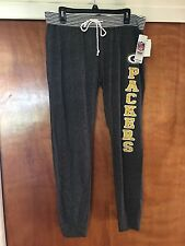 Green Bay Packers NFL Women's Pajamas Sweat Lounge Yoga Pants Gray Small - New
