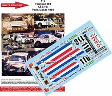 DÉCALS 1/18 réf 719 Peugeot 504 ASENSI Paris Dakar 1980