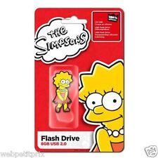 Clé USB 2 Officiel  Lisa Simpsons 8 GB  Rouge/Jaune  Neuf