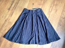 Phase Eight Charcoal Grey Jacquard Textured A Line Fully Lined Floaty Skirt 10