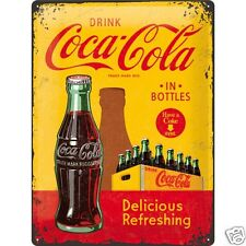 Coca Cola Bottles - 3D Metal Wall Sign. Size : 30cm by 40cm