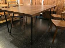 "79"" x 39"" Dining table spanish walnut with hairpin leg"