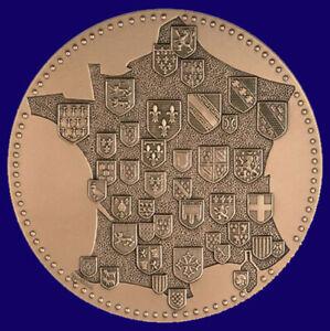 Médaille aux Armes des Provinces françaises bronze (Monnaie de Paris)