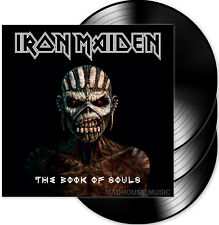 IRON MAIDEN LP x 3 The Book Of Souls Triple 180g VINYL + PROMO Info Sheets