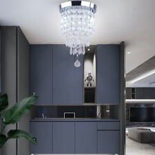 Modern Crystal Chandelier Lighting Hanging Lamp Mini Ceiling Light Fixtures