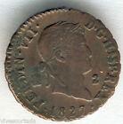 Fernando VII 2 Maravedis 1827 Segovia @@ Bella @@