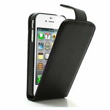 ETUI FOLIO A RABAT iPHONE 4 4S NOIR BLACK ECO-CUIR (PU)