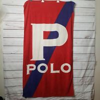 Vintage POLO big P Spellout Flag  Ralph Lauren Sport Sailing Swimming Rugby -03