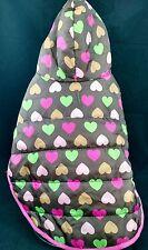 K9 Dog Heart Puffer Coat/Jacket & hood. Pet ClothesTop Paw Brand. Size M. New!!