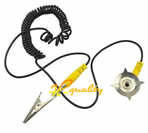 5PCS Anti-Static Coil Cable Anti Static ESD Mats Grounding Point Cord new