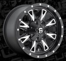 Fuel Throttle D513 17x6.5 8x6.5 ET129 Black Rims (Set of 4)