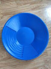 Pan Orpaillage, batée, Gold pan, 38cm, bleu