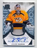 2015-16 UD The Cup JUUSE SAROS Rookie RC AUTO AUTOGRAPH PATCH #/249 Predators SP