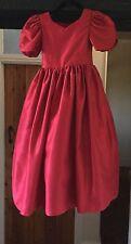 Girl's Rojo/Flores Niña/Dama De Honor Fiesta Vestido-edad 5-6 años