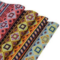Ethnic Tribal Fabric Peach Skin Velvet Grip Sewing PVC Handmade DIY  for Cloth