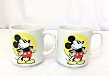 Two Vintage Walt Disney Productions Japan Mickey Mouse Coffee Tea Mugs