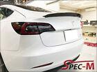 Sports Style Carbon Fiber Trunk Lip Spoiler For Tesla Model 3 2017-2020 CF