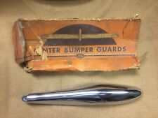 1937 Ford NOS chrome center bumper guard with bracket and hardware,78-17990-S