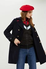 TOPSHOP RRP £65 Twill Pea Coat navy blue  6 8 10 12 14 NEW  with tags