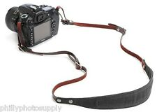 Ona Lima Handcrafted Waxed Canvas and Leather Camera Straps (Black)