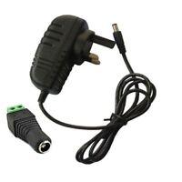 DC 12V power supply Adaptor for LED Strip 5050 3528 RGB 2A  UK AC Transformer