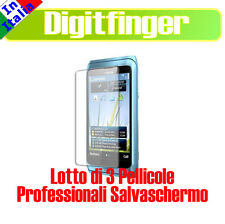 3 PEZZI PELLICOLA SPECCHIO SALVASCHERMO LCD X NOKIA E7