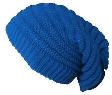 Rasta Beanie Hat Long Slouch Ribbed Blue Colour Baggy Marley Reggae Style