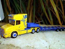 """Herpa Scania Hauber TL Semitieflader """"Schildknecht """"CH""""  915892 OVP"""