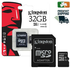 32GB KINGSTON Micro SD SDHC SD Memory Card Class 10 45MB/s 32GB With Adapter