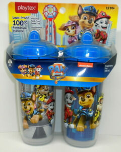 Playtex PAW Patrol 9oz Sippy Cup Mugs 2-Pack 12M+ Blue NEW and FACTORY SEALED