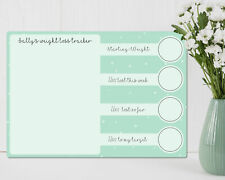 Personalised Dry wipe weight loss whiteboard tracker. Various colours available.