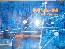 Prospekt Sales Brochure MAN M.A.N. Typ 750 HO Stadt-und Vorort-Omnibusse Technik