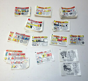 Vintage Bazooka Joe Bubble Gum Comics - 1960's D-Series - Lot of 98