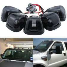 5 x Cab Roof Light Marker Smoke Covers w/ Base Housing For Ford F250 F-350 99-16