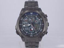 Citizen Attesa BLACK dial Eco radio control chrono alarm Titanium DLC watch U680