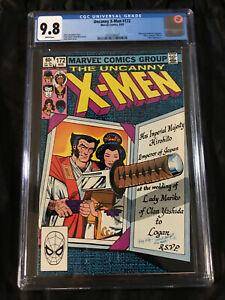 1983 Uncanny X-Men #172 CGC 9.8 NM/MT - WHITE Pages PERFECT COPY Wolverine Cover